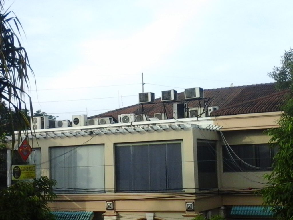 array of air conditioners